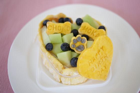 バースデーケーキフルーツバージョン