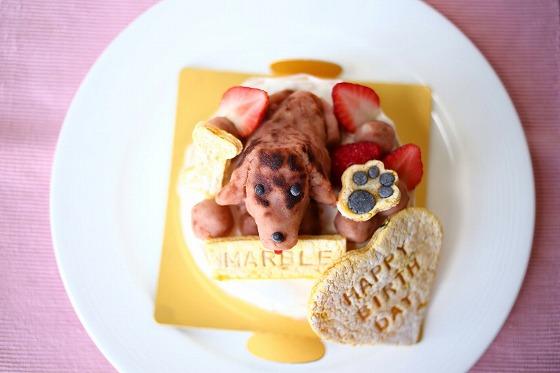 犬用バースデーケーキマーブルちゃん